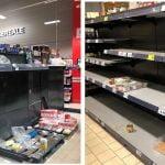 GALERIE FOTO / Isterie la Constanța. Oamenii au golit magazinele de alimente. Rafturile hipermarketurilor sunt goale