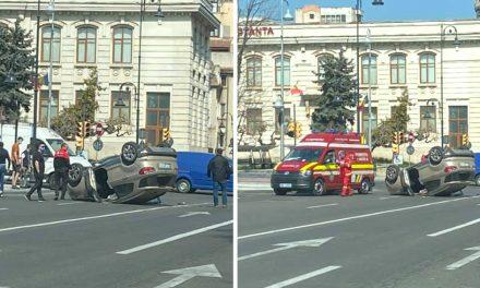 """FOTO. Accidentele în intersecţiile Constanţei se ţin lanţ. """"Lumea nu cunoaşte semnele de circulaţie!"""""""