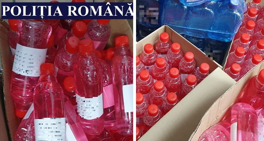 Soluţie de curăţat vândută drept alcool sanitar într-o farmacie din Constanţa