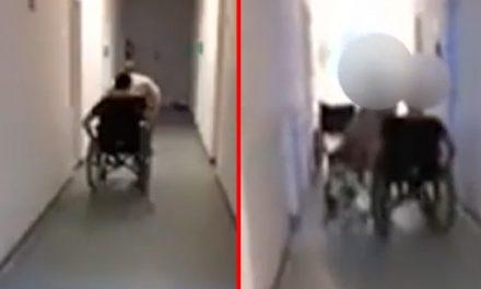 VIDEO. Bolnavi de coronavirus, întrecere cu scaune pe holul unui spital din România