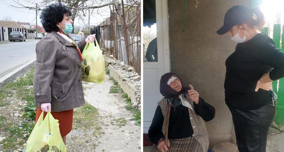Campanie pe seama suferinţei. Două primăriţe din Constanţa s-au pozat oferind ajutoare bătrânilor izolaţi