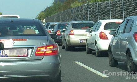După repornirea semafoarelor, primul convoi de şoferi tulceni părăseşte Constanţa