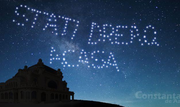Mesaje spectaculoase transmise pe cerul Constanţei de sateliţii lui Elon Musk