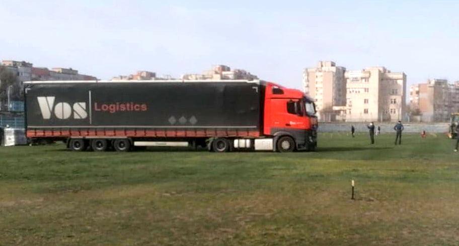 Organizatorii Neversea au trimis şase tiruri cu echipamente pentru spitalul mobil de la Constanţa