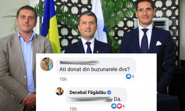 """Primarul Făgădău a """"furat"""" o donație a statului chinez și a anunțat că e din partea lui. Bunurile, de peste 170.000 euro, erau destinate spitalelor"""
