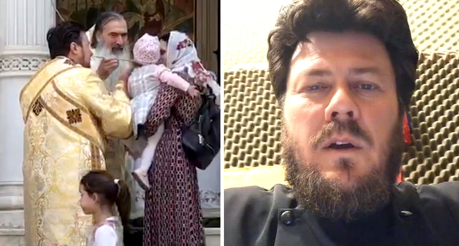 Arhiepiscopia Tomisului contrazice Patriarhia, după ce Teodosie a împărtăşit copii cu aceeaşi linguriţă