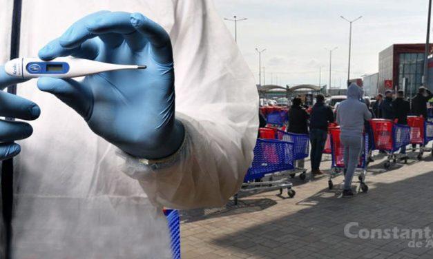 Carrefour ia măsuri pentru descurajarea cozilor. Clienților li se va lua temperatura rectal