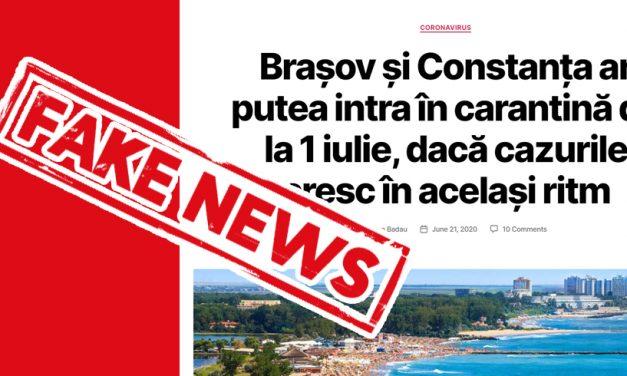 Prefectul demontează fake news-ul despre intrarea în carantină a Constanței de la 1 iulie
