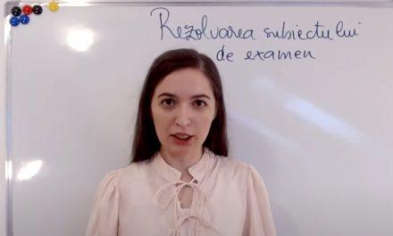 VIDEO. O profesoară oferă rezolvarea subiectelor de la Evaluarea Națională pe Youtube