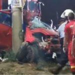 VIDEO. Tragic accident rutier între Eforie Nord și Eforie Sud. Tânăr de 22 de ani mort pe loc, șoferița de 20 de ani în stare gravă
