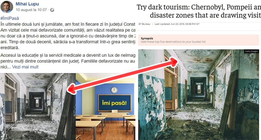 Penibil! Candidatul Mihai Lupu postează fotografii din Cernobîl și Uganda spunând că sunt din Constanța