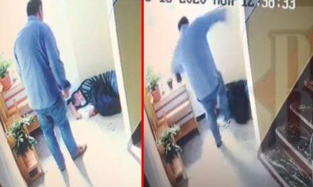 VIDEO. Pensionar bătut cu bestialitate după ce a înmânat un aviz de întrerupere a electricității