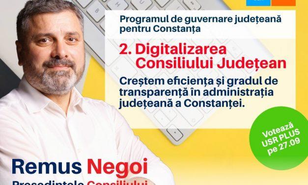 """Remus Negoi, candidat USR PLUS: """"Ne dorim un Consiliu Județean deschis către oameni și transparent"""""""