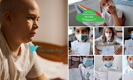 """Școala """"Petre Ispirescu"""" și Asociația Dăruiește Aripi, parteneriat pentru copiii bolnavi de cancer"""