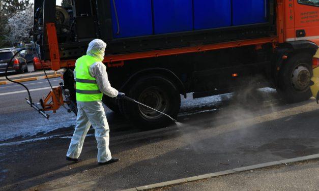 Lucrări de dezinfecție în comuna Nicolae Bălcescu