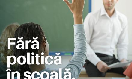 Măsurile USR PLUS pentru Educație: dreptul de a alege școala la care merge copilul tău