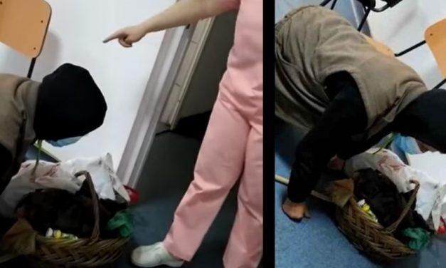 VIDEO. Medic și asistentă, amendați după ce au lăsat un bărân să agonizeze pe holul unui spital