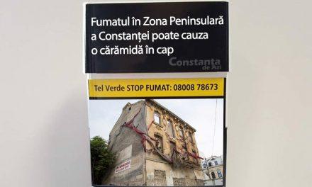 Cutremurător. Pe pachetele de țigări vor apărea poze cu clădiri din Constanța