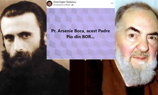 Preotul Eugen Tănăsescu l-a comparat pe Arsenie Boca cu Padre Pio. Creștinii ortodocși i-au sărit la gât pe Facebook