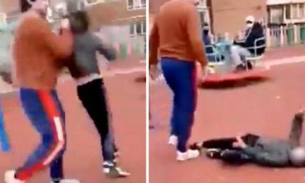 VIDEO. Un bărbat a dat de pământ cu un copil la locul de joacă. Băiatul s-a ales cu traumatism craian grav
