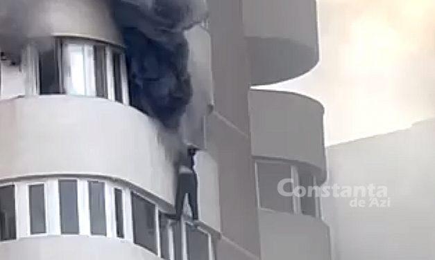 VIDEO. Încercâd să scape de flăcări, o femeie a căzut în gol de la etajul 6 al apartamentului său. IMAGINI CU PUTERNIC IMPACT EMOŢIONAL!