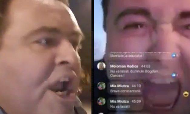 """VIDEO. Lacrimi și jale. A scandat isteric """"AUR!"""", apoi a acuzat de trădare partidul și România TV, spunând că este abuzat"""