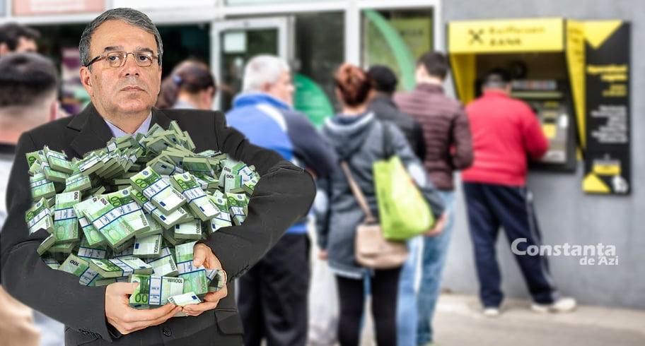 """Soția lui Chițac se plânge: """"Uită mereu să ia sacoșă când se duce la bancomat!"""""""