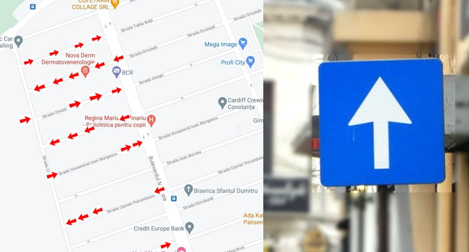 """""""Transformați orașul în labirint!"""". 28 de străzi din Constanța vor deveni artere rutiere cu sens unic"""