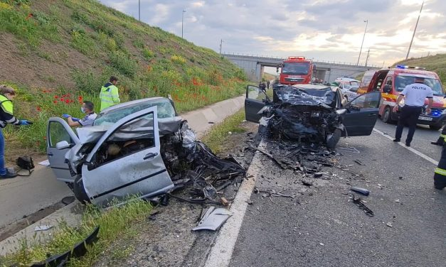 GALERIE FOTO. Grav accident rutier în Murfatlar. O șoferiță de 24 de ani a murit pe loc