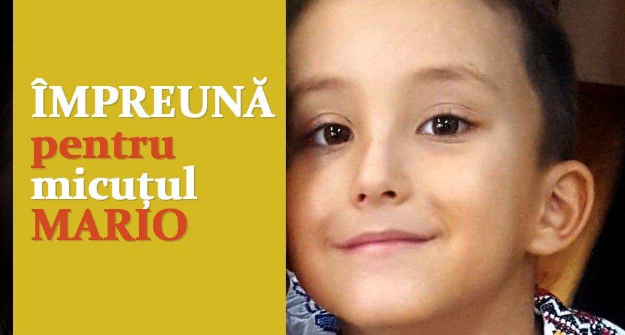 Un băiețel din Constanța se luptă pentru a învinge o tumoră cerebrală. Donează pentru micuțul Mario!