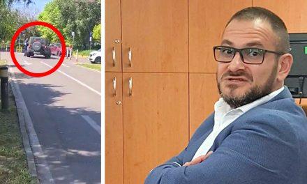 """VIDEO. În """"vinerea verde"""", Horia Constantinescu a venit cu Jeep-ul în parcarea Primăriei"""
