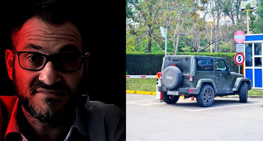 """FOTO. A doua """"vineri verde"""" în care bugetarul Horia Constantinescu vine cu Jeep-ul la Primărie"""
