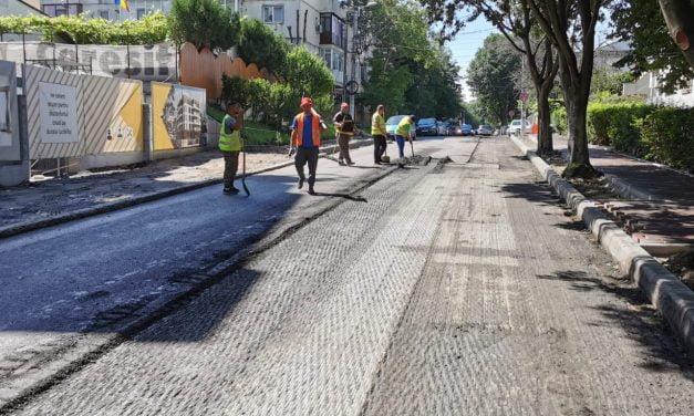 Restricții de trafic în Constanța, pe strada Unirii. Lucrări de asfaltare