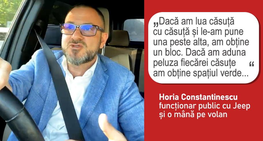 Horia Constantinescu vrea ca locuitorii de la bloc să-și tundă singuri bălăriile din cauză că Primăria nu are bani
