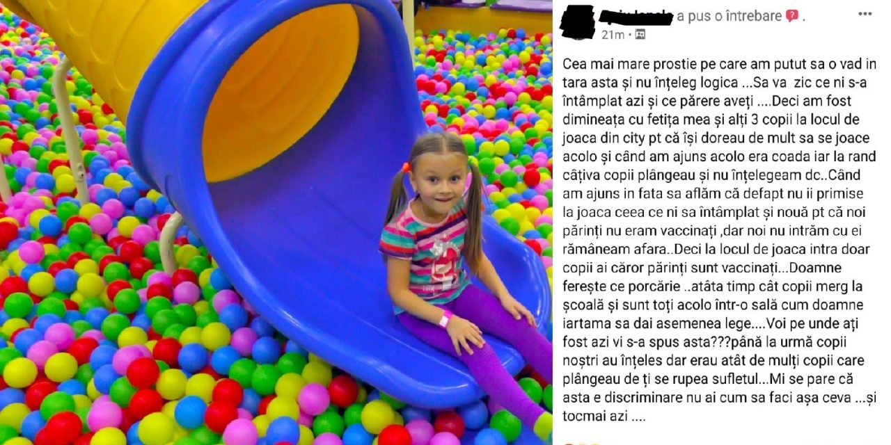 Mămici revoltate: nu le sunt primiți copiii la locurile de joacă fiindcă nu sunt vaccinate