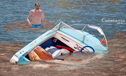 Accident naval pe plaja Modern. O șalupă s-a răsturnat în urma impactului cu un banc de c@k@t