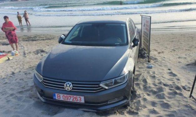 Șoferii cu BMW pierd teren. Un cocalar a intrat pe plajă cu un Passat și a încasat o amendă record
