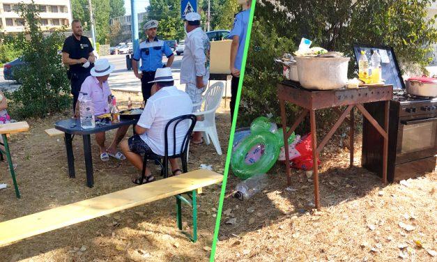 Paranghelie cu aragaz, grătar și manele la maxim în Mamaia. Polițiștii au dat amenzi