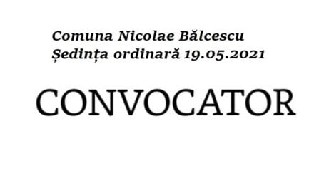 Ședință de Consiliu Local Nicolae Bălcescu. Ordinea de zi