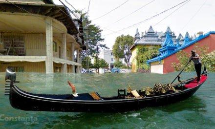 Conductă spartă în Palas. Primăria profită: redenumim cartierul în Mica Veneție și aducem turiști!